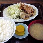 文田食堂 - 料理写真:文田食堂のしょうが焼き定食