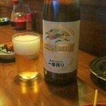 さわだ - ビールは大瓶 よく冷えてます 550円