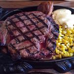 大衆ステーキとハンバーグ炭火焼専門店 ミンチェッタ - 「 リブロースの1ポンドステーキ 」 ¥2,480でございます☆