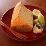 木の音 - 古代米のシフォンケーキ
