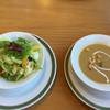 CAFE サルデーレ - 料理写真:セットのサラダとポタージュ