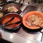 スイーツパラダイス - 料理写真:パスタと炊き込みご飯