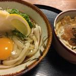 麺茶屋一番や  大和 - 料理写真:冷やしぶっかけ(タマゴ追加)&ミニかつ丼