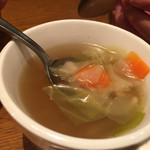 45246097 - スープ、具材アップ。