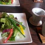 45248032 - ランチセット サラダとお茶