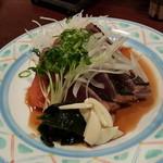四季彩華旬太郎 - 鰹のたたき 土佐酢で