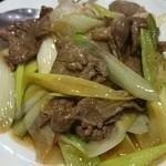 中華料理 菜香菜 - ラム肉長ネギ炒め