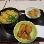 うどん・丼 さぬきや - 料理写真:暫く待つと注文したそば定食、ごぼう天トッピングの出来あがりです。