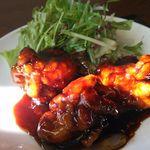 45257249 - メインの日替わり料理の鶏の黒酢餡かけ