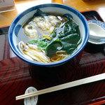 蓬 - 牡蠣蕎麦 二八 1400円