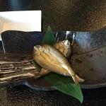 村民食堂 - 小鮎の炙り 480円(税込)