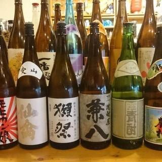【魚料理に】日本酒、焼酎の種類が豊富