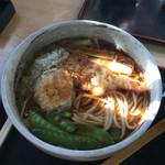 房州屋本店 - 天ぷらそば(海老、茄子、ピーマン)