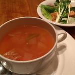 45265706 - セットのスープとサラダ