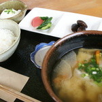 田舎家 - 手作りだんご汁膳1,080円