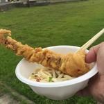 天満製麺所 - 今回も藤原屋さんの「げそ天」を持ち込んで・・・(^^ゞ