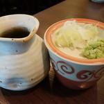 蕎麦見世のあみ - ☆つけつゆ&白髪葱&山葵☆