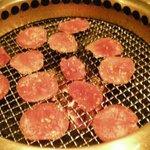 牛花 - タン塩を焼きます。