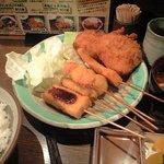 串揚げ処 味串 - ヒレかつミックス定食