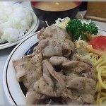 洋庖丁 - からし焼肉定食(ライス大)750円