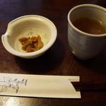45277721 - 戸隠大根味噌漬けと延命茶