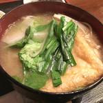 力士料理 富風 - 名物、ちゃんこ(味噌)