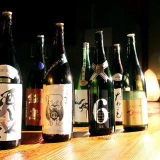 常時30種類以上の日本酒を揃えております