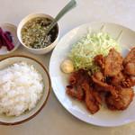 三春駒 - 料理写真:肉天セット