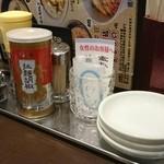 麺達 - 卓上調味料