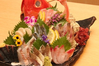 魚我志 むさし - 当店の看板メニュー!お刺身の盛り合わせ『大漁盛り』