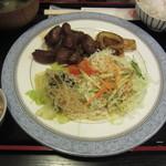 みやだい倶楽部 - サイコロステーキ定食(1100円)