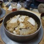 釜めしお可免 - 鯛の釜飯(1300円)