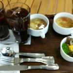イデカフェ - 料理写真:ランチセットに180円追加で指定ドリンクが飲めます。