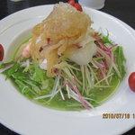 中国料理 桃花園 - 海鮮ひすい冷麺1,480円