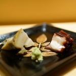 鮨 さいとう - 2015.12 北海道エゾアワビ、佐島蛸の桜煮