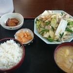 みのり食堂 - 2015/11/25 12:40訪問 野菜炒め定食
