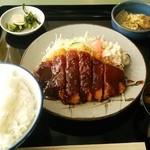 みそかつの松屋 - みそかつ定食950円、ご飯大盛50円