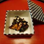 精進料理 醍醐 - 秋茄子味噌和え