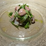 エノテカラウラ - カワハギ肝サラダ