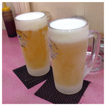45298879 - 生ビール(中ジョッキ) 500円×2