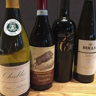 ワインの豊富なラインナップ