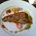 ビストロ パリエ - 白身魚と小エビのバジリコソース