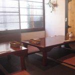 仙人掌 - テーブル席(座卓)