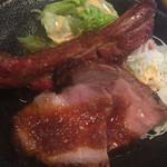 45307162 - スペアリブ,ローストポーク,生野菜サラダ