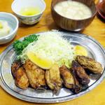 Tonkatsumampei - カキバター定食(1750円)