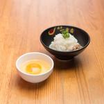 博多一幸舎 - つけ麺の〆に雑炊(玉子)