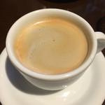 トラットリア シェ ラパン - セットのコーヒー