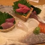 """いなせ 寅""""衛門 - 刺身盛り合わせ5種盛り"""