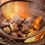 宮崎 小林養鶏 直営店 しちりん焼肉 わさび - 『鶏のざる焼き』わさび名物