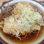 むさしの - 鯵天ぷらのせ温かい蕎麦